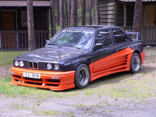 Bmw M3 E30 Tuning. Rieger GT/O, 80#39;s tuning
