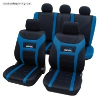 Universální autopotahy typ Super-Speed barva černá/modrá (11-ti dílná sada pro celé auto)