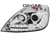 DAYLINE přední světla Ford Fiesta 01-05 chrom