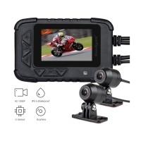 "Motocyklová DUAL FULL HD kamera, GPS + 2,4"" LCD, IP67"