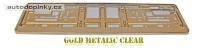 Podložka pod SPZ metalický lak - barva zlatá lesklá