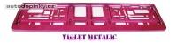 Podložka pod SPZ metalický lak - barva fialová lesklá