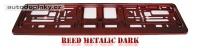 Podložka pod SPZ metalický lak - barva červená tmavá