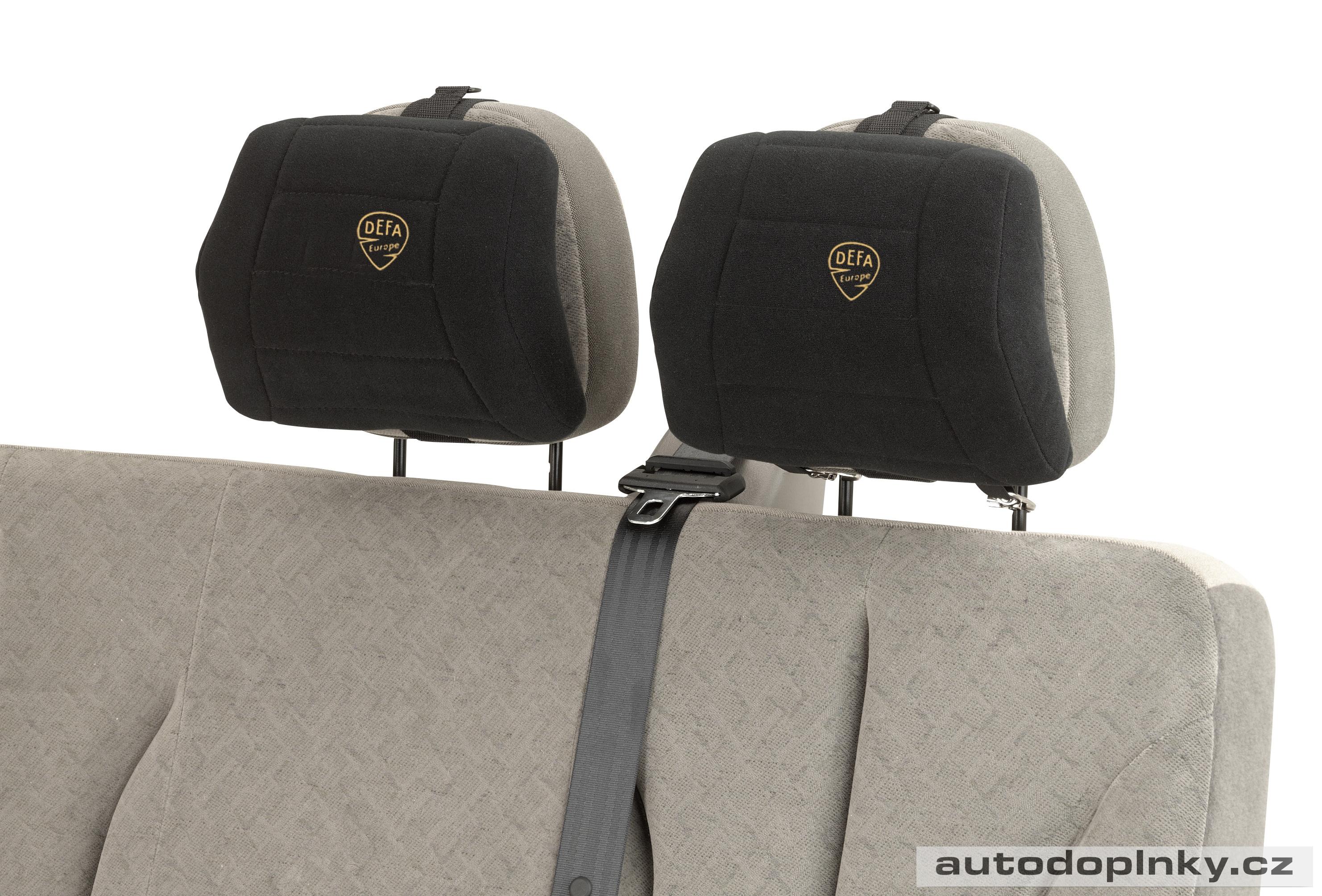 DEFA polštář na opěrku hlavy černý  2d473435ae