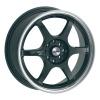 zvětšit náhled - Litá kola DYNAMICS model DRIFZ velikost 7.5x18 palců -- černá barva s leštěným stříbrným límcem