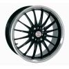zvětšit náhled - Litá kola 100+ model JET velikost 7.0x17 palců -- černá barva s leštěným stříbrným límcem